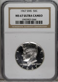 SMS Kennedy Half Dollars: , 1967 50C SMS MS67 Deep Cameo NGC. NGC Census: (71/8). Numismedia Wsl. Price for NGC/PCGS coin in MS...
