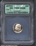 Proof Roosevelt Dimes: , 1979-S 10C Type Two PR69 Deep Cameo ICG. Both sides are bo...