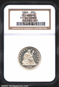 Proof Seated Quarters: , 1859 25C PR66 NGC. Exquisitely struck and fully brilliant ...