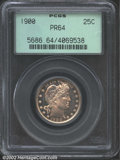 Proof Barber Quarters: , 1900 25C PR64 PCGS. Well struck with lightly dappled champ...