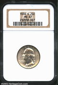 Washington Quarters: , 1939-S 25C MS67 NGC. Untoned save for light, pastel, lilac...