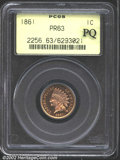 Proof Indian Cents: , 1861 1C PR63 PCGS. There is lavender color on the devices...