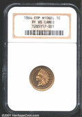 Proof Indian Cents: , 1864 1C Copper-Nickel PR65 Cameo NGC. Final year of issue ...