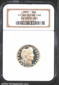 Proof Barber Quarters: , 1892 25C PR68 Deep Cameo NGC. The devices have light lemon...
