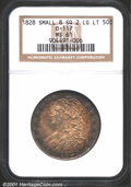 Bust Half Dollars: , 1828 50C Square 2, Small 8, Large Letters MS61 NGC. O-117...