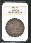 Early Dollars: , 1800 $1 XF40 NGC. B-17, BB-196, R.1. Intermediate Die St...