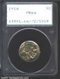 Proof Buffalo Nickels: , 1914 Nickel 5C PR64 PCGS. Intricately detailed and lightly...