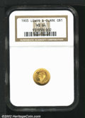 Commemorative Gold: , 1905 $1 Lewis and Clark MS64 NGC. One of two Choice repre...