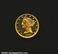 Proof Liberty Half Eagles: , 1900 $5 PR62 Cameo Uncertified. The mintage of 230 proof H...