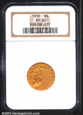 Proof Indian Half Eagles: , 1908 $5 PR65 NGC. Undoubtedly, the Mint did not expect the...