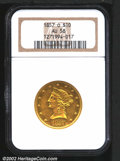 Liberty Eagles: , 1857-O $10 AU58 NGC. Sharply struck except for a few obver...