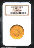 Proof Indian Eagles: , 1908 $10 Motto PR65 NGC. Of the 116 proof Tens struck in t...