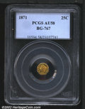 California Fractional Gold: , 1871 25C Liberty Octagonal 25 Cents, BG-767, R.4, AU58 PCGS....