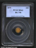 California Fractional Gold: , 1875 25C Indian Octagonal 25 Cents, BG-798, R.6, MS63 PCGS....