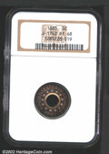 1885 5C Five Cents, Judd-1742, Pollock-1954, R.6-7, PR68 NGC. A ring-shaped pattern that has thirteen stars, the date, a...