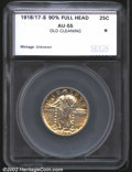 Additional Certified Coins: , 1918/7-S Quarter AU55 SEGS (AU50 Brushed). The honey-gold p...