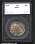Additional Certified Coins: , 1830 50C Small 0 Half Dollar MS64 SEGS (MS63). O-110, R.3...