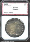 Additional Certified Coins: , 1800 $1 AMERICAI Silver Dollar AU50 Cleaned PCI. B-19, B...