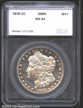 Additional Certified Coins: , 1878-CC $1 Morgan Dollar MS64 Deep Mirror Prooflike SEGS (M...