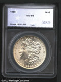 Additional Certified Coins: , 1886 $1 Silver Dollar MS66 SEGS (MS65). Basically untone...