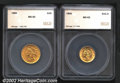Additional Certified Coins: , 1905 $2 1/2 Quarter Eagle MS63 SEGS (MS61), bright with modera...