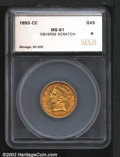 Additional Certified Coins: , 1893-CC $5 Half Eagle MS61 SEGS (MS60 Obverse Scratched). ...
