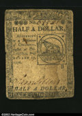 Colonial Notes:Continental Congress Issues, Continental Currency February 17, 1776 $1/2 Fine. Lightly s...