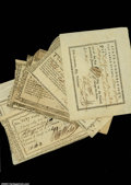 Colonial Notes:Connecticut, Connecticut Fiscal Paper. Eight pieces varying in grade and...