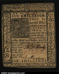 Colonial Notes:Delaware, Delaware January 1, 1776 6s Choice About New. Closely margi...
