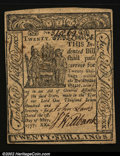 Colonial Notes:Delaware, Delaware May 1, 1777 20s Choice New. A near-Gem example, he...