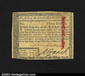 Colonial Notes:Massachusetts, Massachusetts March 5, 1780 $3 Very Choice New. Canceled wi...