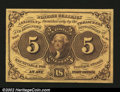 Fractional Currency:First Issue, Fr. 1230 5¢ First Issue Superb Gem New. The face printing i...