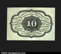 Fractional Currency:First Issue, Fr. 1243 10¢ First Issue Superb Gem New. This no-monogram s...
