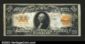 Large Size:Gold Certificates, 1922 $20 Gold Certificate, Fr-1187, VF-XF. The quarter folds ha...
