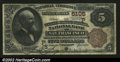 San Francisco, CA- $5 1882 Brown Back Fr. 477 The Wells Fargo Nevada NB Ch. # (P)5105 A pleasing Brown Back bearing a t...