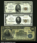 National Bank Notes:Oregon, Portland , OR - $10 1902 Date Back Fr. 617, $5, $20 1929 Ty...