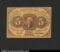 Fractional Currency:First Issue, 1862-1863 5c First Issue, Jefferson, Fr-1230, AU. A couple of s...