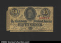 Confederate Notes:1863 Issues, 1863 50 Cents Bust of Jefferson Davis, T-63, VG. Small pieces a...
