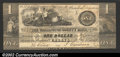 Obsoletes By State:Maine, 1837 $1 Washington County Bank, Calais, ME, VF. ...