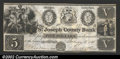 Obsoletes By State:Michigan, 1838 $5 St. Joseph County Bank, Centerville, MI, VF+. A rare is...