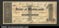 Obsoletes By State:Minnesota, 1858 $1 State of Minnesota, Saint Paul, MN, Fine. There are a c...