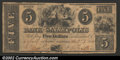 Obsoletes By State:Ohio, 1840 $5 Bank of Gallipolis, OH, About Fine. ...