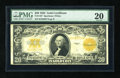 Large Size:Gold Certificates, Fr. 1187 $20 1922 Gold Certificate PMG Very Fine 20. A pleasing piece with great paper quality....