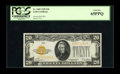 Small Size:Gold Certificates, Fr. 2402 $20 1928 Gold Certificate. PCGS Gem New 65PPQ.. Natural paper wave is easily viewed on this high-grade $20 Gold tha...