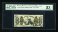 Fractional Currency:Third Issue, Fr. 1365 50c Third Issue Justice PMG About Uncirculated 53. This attractive Justice note with an extra wide top margin looks...
