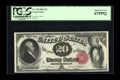 Large Size:Legal Tender Notes, Fr. 142 $20 1880 Legal Tender PCGS Superb Gem New 67PPQ. A flawlessexample of this rather scarce number. About 75 pieces ar...