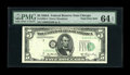 Error Notes:Shifted Third Printing, Fr. 1962-G $5 1950A Federal Reserve Note. PMG Choice Uncirculated 64 EPQ.. The third printing is shifted to the right and in...