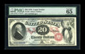 Large Size:Legal Tender Notes, Fr. 129 $20 1878 Legal Tender PMG Gem Uncirculated 65 EPQ. A veryhandsome example, with great color, broad margins and the ...