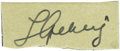 "Autographs:Others, Late 1930's Lou Gehrig Signed Cut Signature. Small in stature butimmense in importance, this .5x1.5"" slip of paper bears t..."