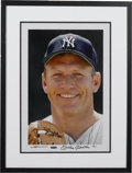 Autographs:Photos, Early 1990's Mickey Mantle Signed UDA Large Photograph. Magnificentcolor portrait by famed sports lensman Neil Leifer meas...